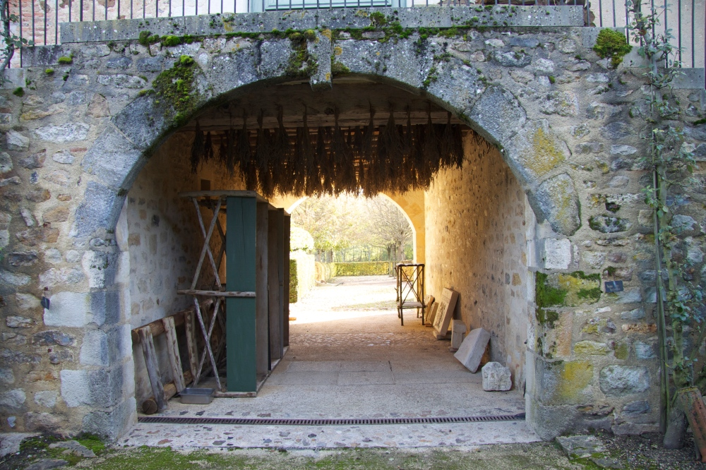 view through arch entrance