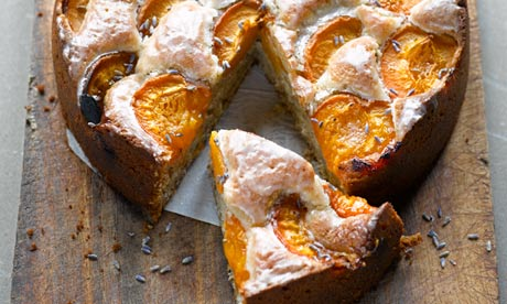 Yotam Ottolenghi's apricot, walnut and lavender cake