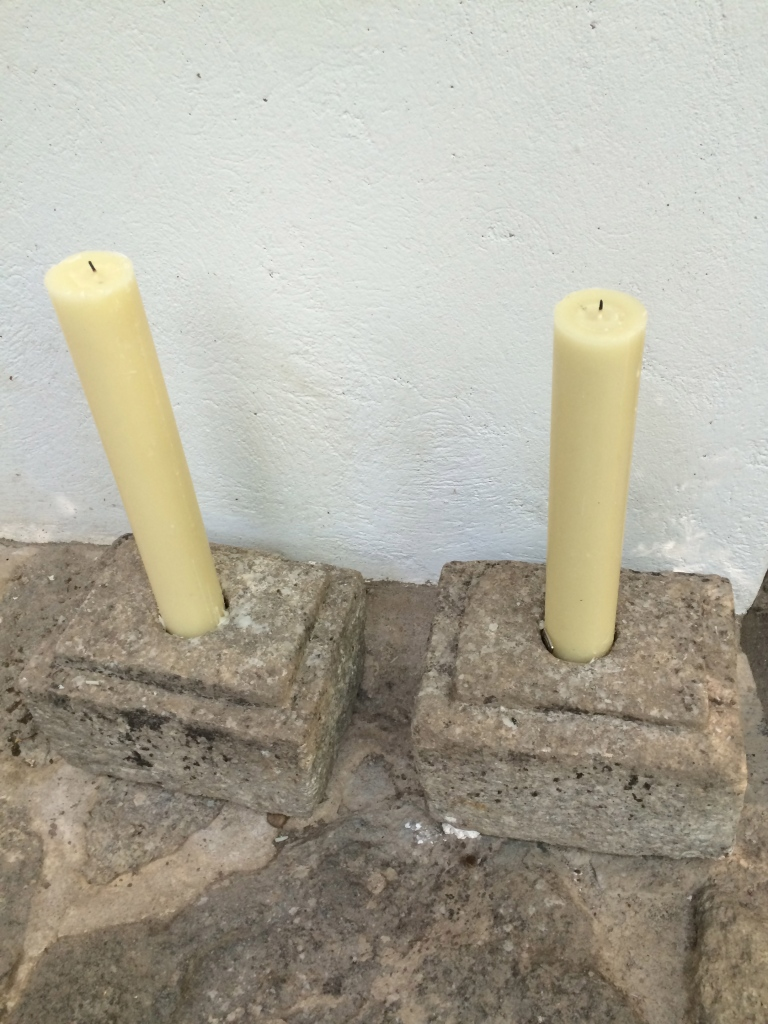 stone candle holders