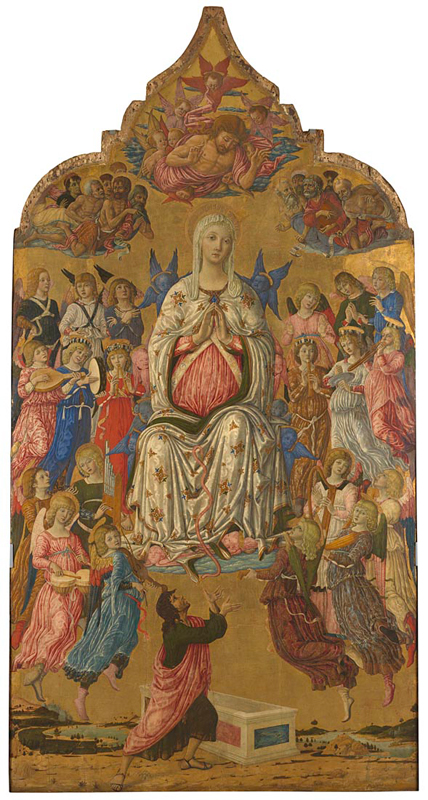 Matteo di Giovanni, active 1452; died 1495 The Assumption of the Virgin probably 1474 Tempera and gold on wood, 331.5 x 174 cm, 150 kg Bought, 1884 NG1155 http://www.nationalgallery.org.uk/paintings/NG1155