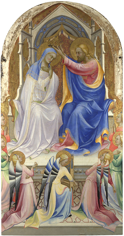 Lorenzo Monaco, active 1399; died 1423 or 1424 The Coronation of the Virgin: Central Main Tier Panel 1407-9 Egg tempera on wood, 220.5 x 115.2 cm Bought, 1902 NG1897 This painting is part of the group: 'San Benedetto Altarpiece' (L2; NG215-NG216; NG1897; NG2862; NG4062) http://www.nationalgallery.org.uk/paintings/NG1897