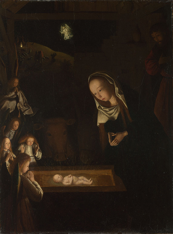Geertgen tot Sint Jans, about 1455/65; died about 1485/95 The Nativity at Night possibly about 1490 Oil on oak, 34 x 25.3 cm Bought, 1925 NG4081 http://www.nationalgallery.org.uk/paintings/NG4081