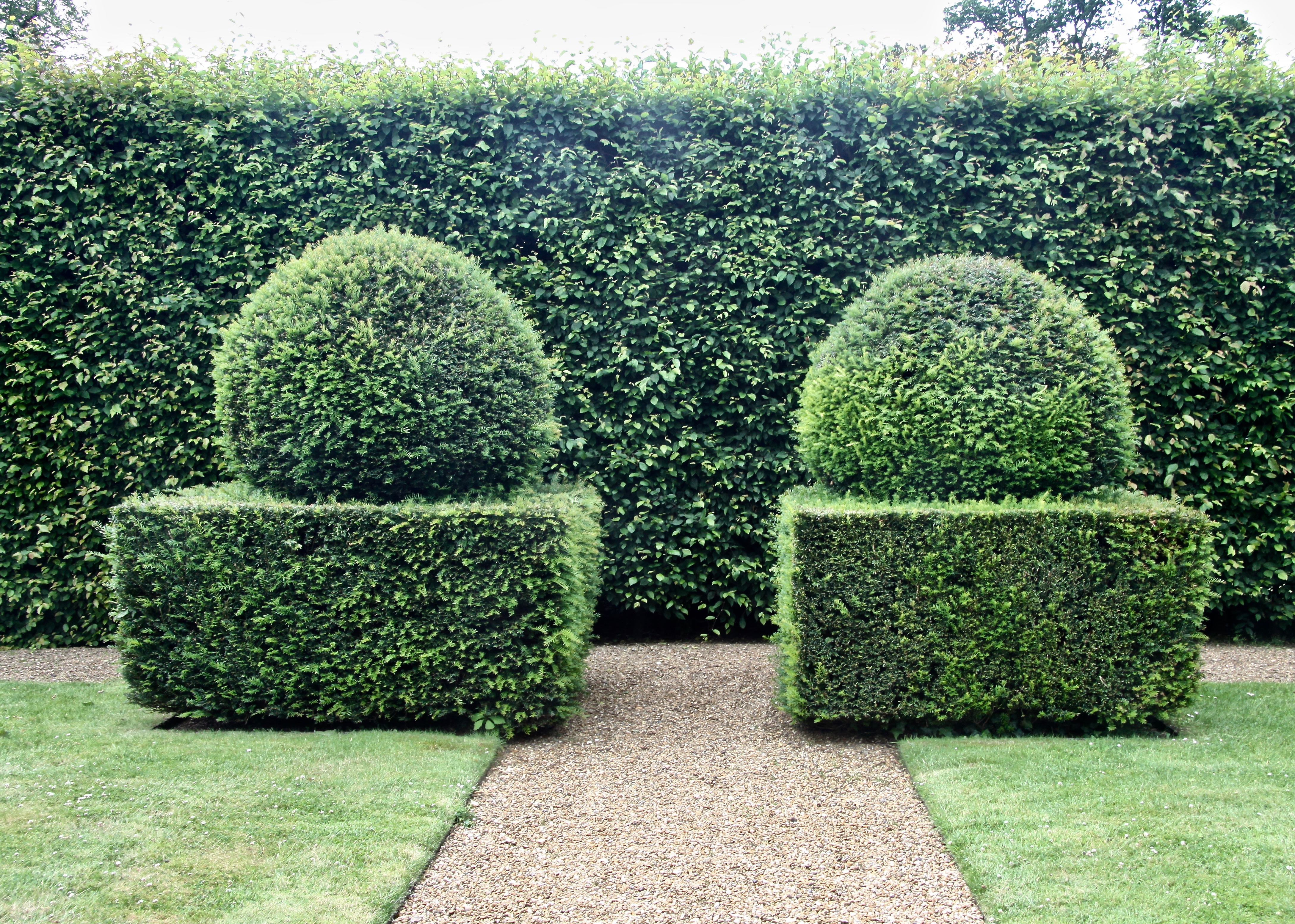 The Yew Topiary Everywhere In The Garden Is Plump And Inviting: Yew Topiary  At Woolbeding